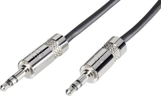 Patch kábel 3 m, 3,5 jack dugó/dugó, fekete, Paccs
