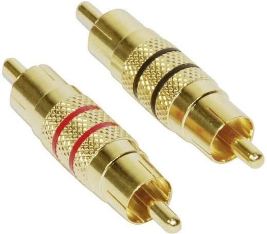 RCA adapter, RCA dugó/dugó, 2 db, Paccs