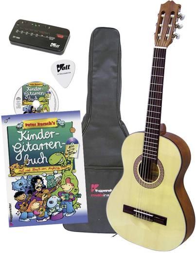 1/2-es gyerek gitár, akusztikus tanuló gitár hordtáskával Voggenreiter