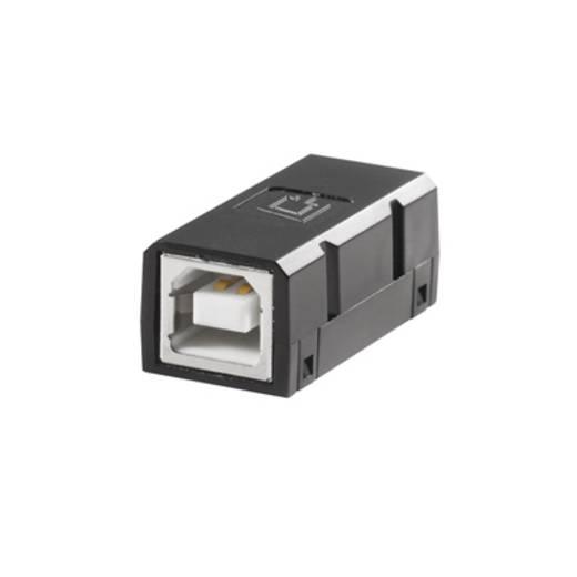 USB 2.0 adapter, 1 x USB 2.0 alj B – 1 x USB 2.0 alj B, fekete, Weidmüller 1131380000