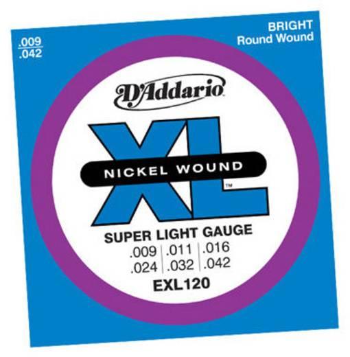 D'Addario E-gitár húrkészlet, 009-042, EXL120