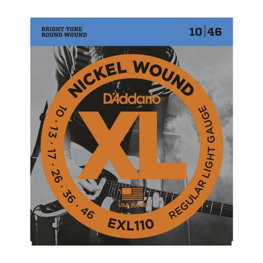 D'Addario E-gitár húrkészlet, 010-046, EXL110 Regular Light