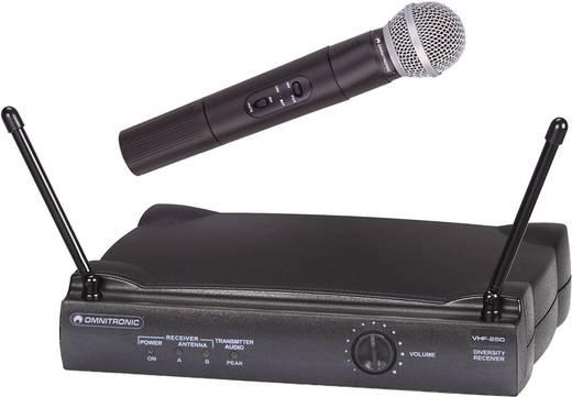 Rádiójel vezérlésű mikrofon készlet, Omnitronic VHF-250