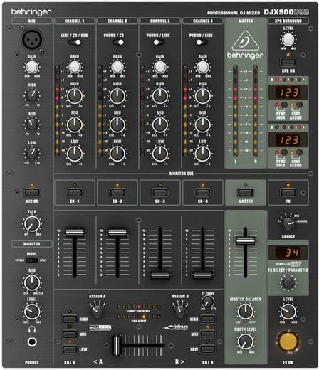 USB-/DJ keverőpult, Behringer DJX-900