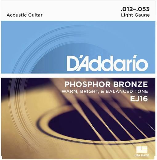 D'Addario EJ16 akusztikus húrkészlet, 012 - 053