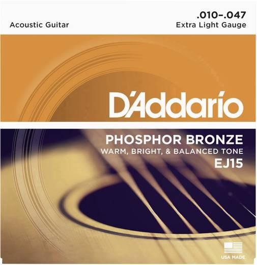 D'Addario EJ15 akusztikus húrkészlet, 010 - 047