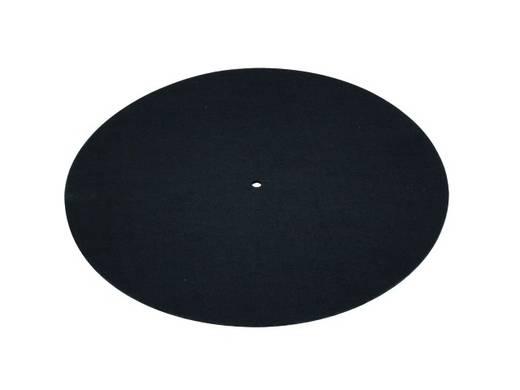 Omnitronic lemezjátszó filckorong, antisztatikus slipmat, fekete színű