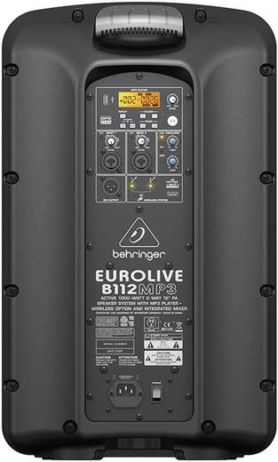 Aktív PA hangfal, RMS/Max 500/1000 W, 30 cm (12), Behringer B112 MP3