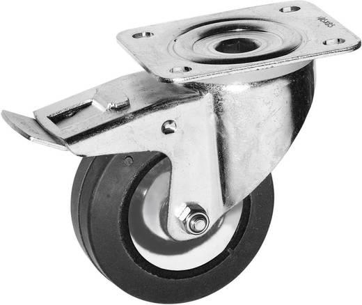 Forgó görgő, fékezhető rack és hangfal görgő, tömörgumi kerékkel Ø 100 mm Y96686