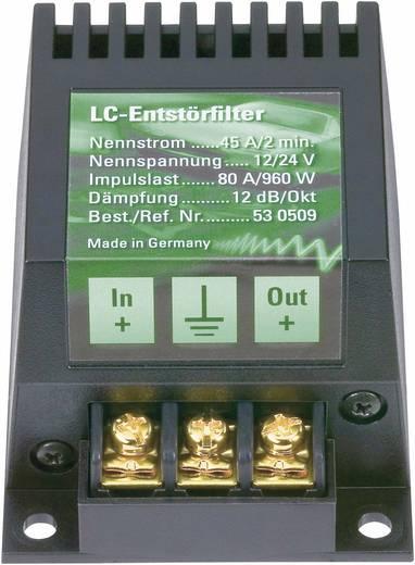 Autórádió erősítő és zavarszűrő 35 A/420 W, AIV