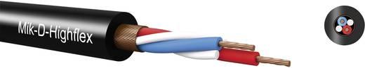 Mik-D-Classic mikrofonkábel csavart árnyékolással 2 x 0.22 mm² piros méteráru Kabeltronik