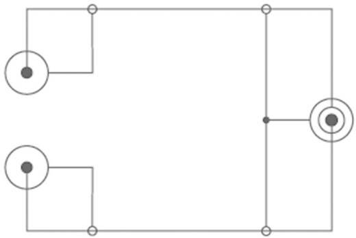 Jack - RCA audio kábel, 1x 3,5 mm jack dugó - 2x RCA dugó, 15 m, fekete, SpeaKa Professional 325068