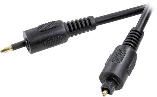 Digitális optikai audio kábel, Toslink dugó - 3,5 mm-es optikai dugó, 3 m, fekete, SpeaKa Professional 50111