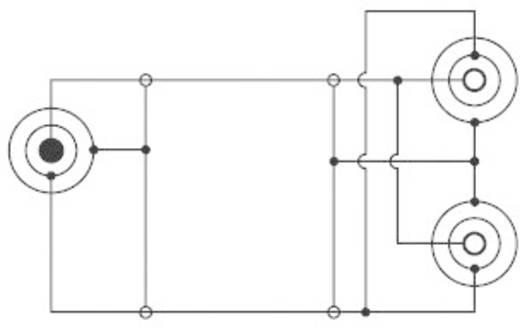 Jack elosztó adapter, 3,5 1 x dugó/2 x aljzat, fekete, SpeaKa Professional 50103