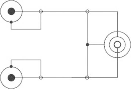 Jack - RCA audio kábel, 1x 3,5 mm jack aljzat - 2x RCA dugó, 1,5 m, fekete, SpeaKa Professional 325101