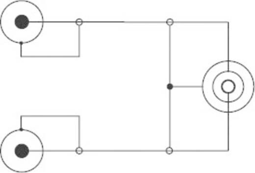 Y kábel, 6,3 jack aljzat/2 x RCA dugó, 0,2 m, fekete, SpeaKa Professional 50095