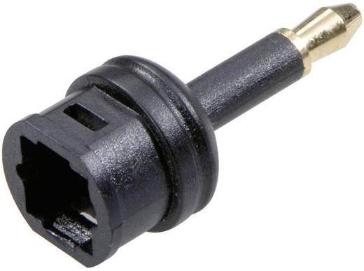 Toslink (ODT) aljzat/3,5 jack dugó átalakító adapter, fekete, SpeaKa Professional 50150