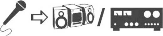 Monó 3,5 jack dugó/6,3 jack aljzat átalakító kábel, 0,2 m, fekete, SpeaKa Professional 50108