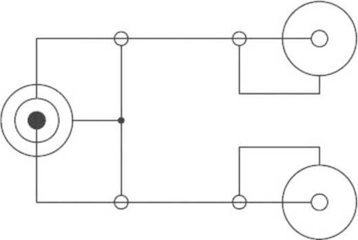 Y kábel, 6,3 sztereó jack dugó/2 x 6,3 monó jack aljzat, 0,2 m, fekete, SpeaKa Professional 50078
