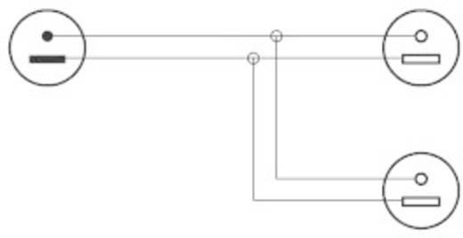Hangszórókábel elosztó 1 x dugó/2 x aljzat, 0,2 m, fekete, SpeaKa Professional 50076