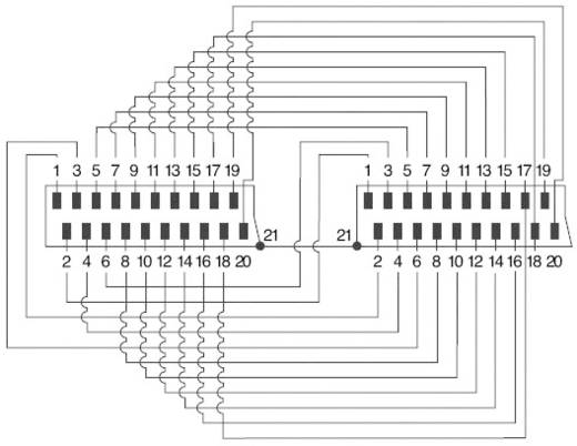 SCART dugó/dugó kábel, 1,5 m, fekete, SpeaKa 50021