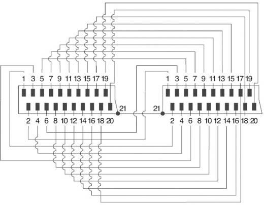 Aranyozott SCART dugó/dugó kábel, 2 m, fekete, SpeaKa Professional 50162