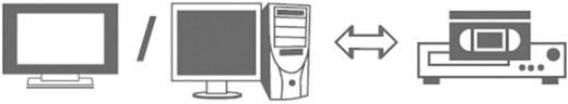 Kompozit RCA video kábel, 1x RCA dugó - 1x RCA dugó, 5 m, fekete, SpeaKa Professional