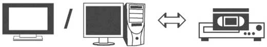 Kompozit RCA video kábel, 1x RCA dugó - 1x RCA dugó, 10 m, fekete, SpeaKa Professional