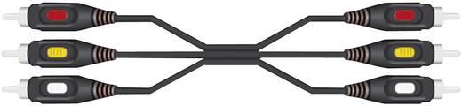 RCA kábel 3 x dugó/3 x dugó, 2 m, fekete, SpeaKa Professional 50022