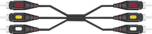 AV kábel 3 x RCA dugó/dugó, 5 m, fekete, SpeaKa Professional 50019