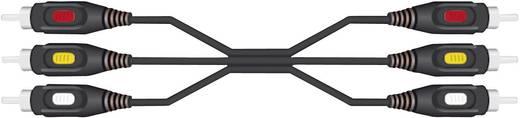 RCA kábel 3 x dugó/3 x dugó, 10 m, fekete, SpeaKa Professional 50186