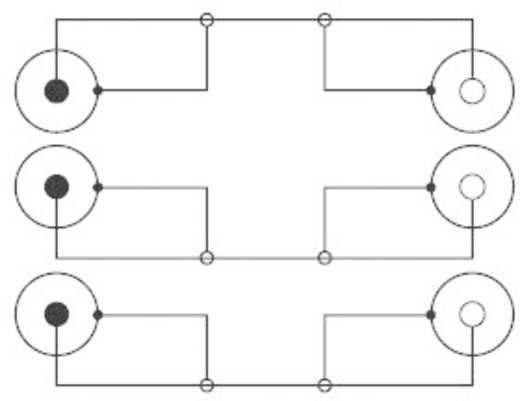 RCA hosszabbító kábel 3 x dugó/3 x aljzat, 5 m, fekete, SpeaKa Professional 50128