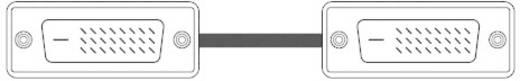 DVI-D kábel dugó/dugó, 1,8 m, fehér, SpeaKa Professional 50216