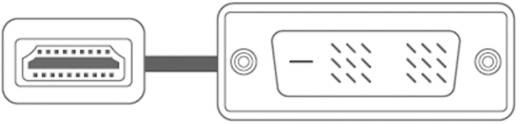 Monitor kábel DVI-D dugó/HDMI-A dugó, 3 m, fehér, SpeaKa Professional 50218