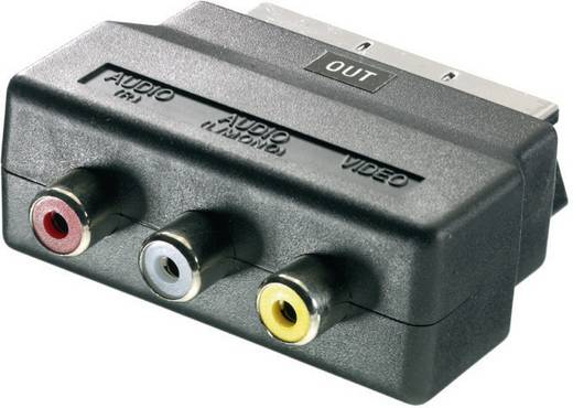 SCART dugó/3 x RCA aljzat (in) átalakító adapter, SpeaKa Professional 50159