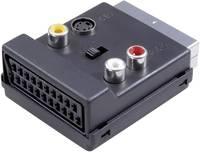SpeaKa Professional SCART / RCA / S videó Y adapter [1x SCART dugó - 3x RCA alj, SCART alj, S-videó alj] Fekete Átkapcso SpeaKa Professional