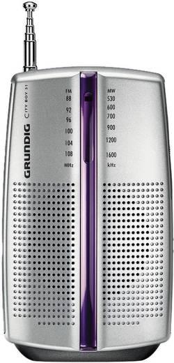 Grundig City 31 PR 3201 Hordozható rádió, zsebrádió króm színben