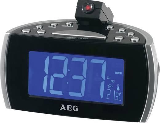 Digitális kivetítős ébresztőóra rádióval, fekete, AEG MRC 4119 P N