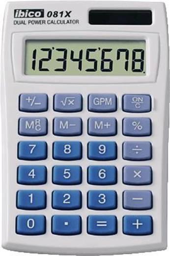 Zsebszámológép, világosszürke/kék, 8 karakteres, GBC IBICO 081 X, IB410000