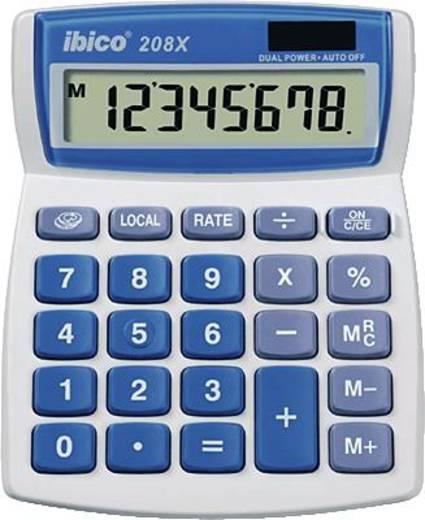 Zsebszámológép, világosszürke/kék, 8 karakteres, GBC IBICO 208 X, IB410062