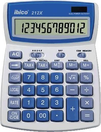 Asztali számológép, világosszürke/kék, 12 karakteres, GBC IBICO 212 X, IB410086