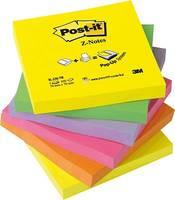 Post-it Öntapadó jegyzetlap 7000080709 76 mm x 76 mm Neonsárga, Neonzöld, Neon rózsaszín, Neonlila, Neon narancs 600 la Post-it