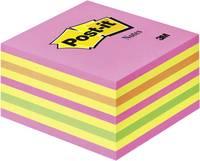 Post-it Öntapadó jegyzettartó kocka 2028NP 76 mm x 45 mm Neon rózsaszín, Neonzöld, Rózsa, Sárga 450 lap Post-it