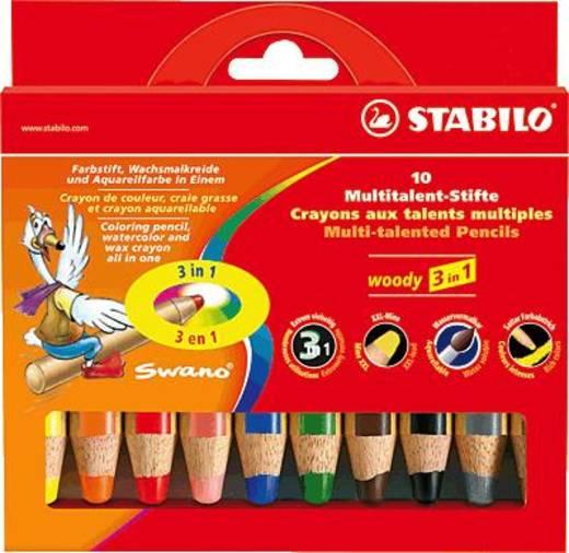 Stabilo színes fa ceruza, woody, extra vastag, 10 db-os doboz/880/10 10 mm, szortírozva, 10 db