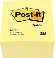 Post-it Öntapadó jegyzettartó kocka 636B 76 mm x 45 mm Sárga 450 lap Post-it