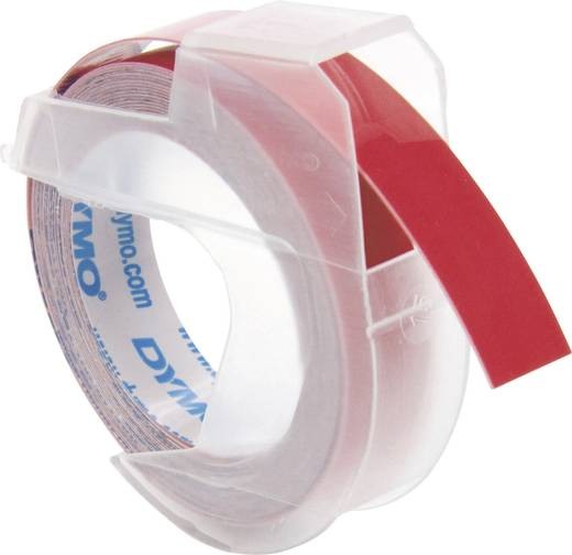 Feliratozó szalag, piros, felirat színe fehér, 9 mm, 3 m