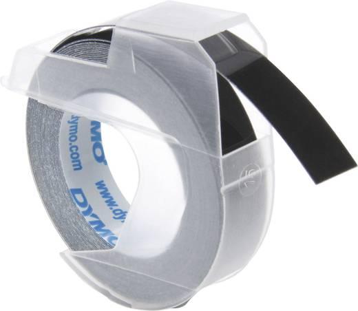 Feliratozó szalag, fekete, felirat színe fehér, 9 mm, 3 m