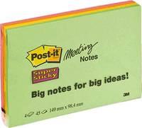 Post-it Öntapadó jegyzetlap 7100043257 149 mm x 98 mm Neonzöld, Neon narancs, Ultralila, Ultrasárga 180 lap Post-it