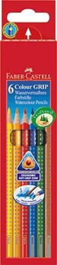 FABER-CASTELL COLOUR Grip 2001 színes ceruzák/112406 szortírozva, 6 db