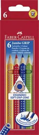 FABER-CASTELL Jumbo Grip színes ceruzák/110906 szortírozva, 6 db